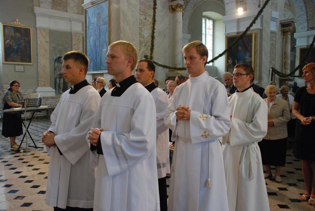 Telšių kunigų seminarijos naujųjų mokslo metų pradžios akimirkos
